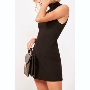 Reformation Enzo Black Sleeveless Ribbed Dress M